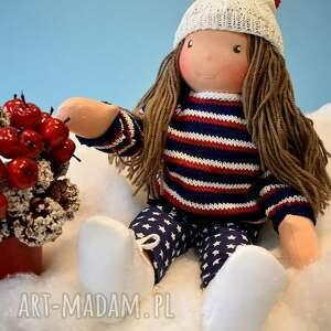 sweterek lalki czerwone lalka waldorfska basia
