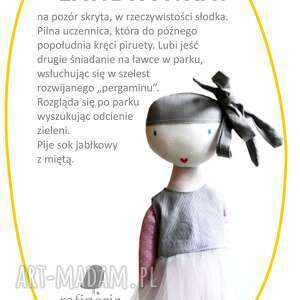 ręcznie zrobione lalki balerina landrynka