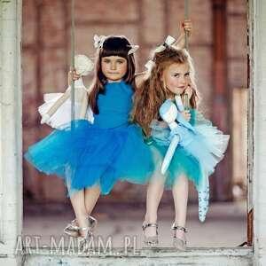 niebieskie lalki szmacianka lila blue. baletowa