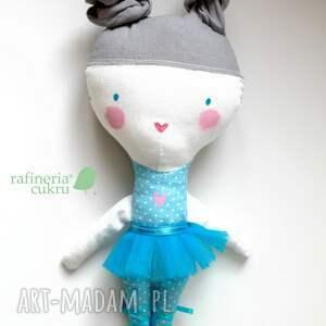 turkusowe lalki szmacianka mała baletnica. kieszonkowa