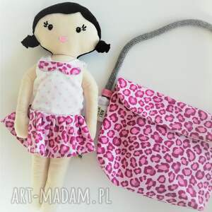 handmade lalki lala mała - czarne włosy