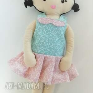 różowe lalki lalka mała lala - włosy czarne