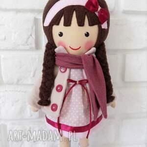 ręcznie robione lalki lalka malowana lala wiktoria z szalikiem