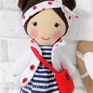 hand-made lalki lalka malowana lala helenka z torebką