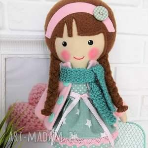 lalki lalka malowana lala klaudia z wełnianym