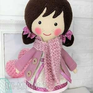 hand-made lalki lalka malowana lala frania z wełnianym