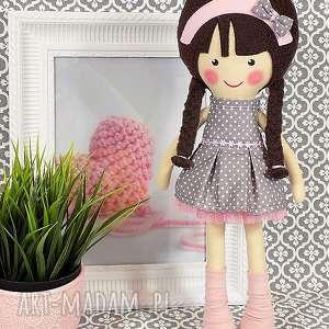 handmade lalki lalka malowana lala magdalena z wełnianym