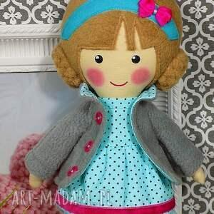 hand-made lalki prezent malowana lala nina z wełnianym