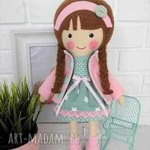lalki zabawka malowana lala klaudia z wełnianym