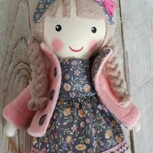 lalka różowe malowana lala malwinka