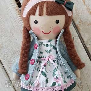 różowe lalki przytulanka malowana lala zuza