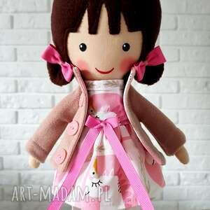 beżowe lalki przytulanka malowana lala selena