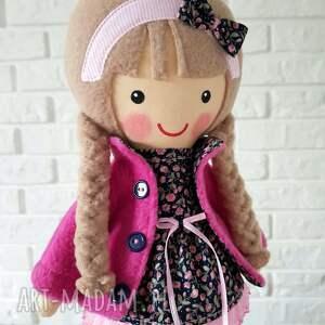 różowe lalki przytulanka malowana lala jagoda