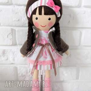 lalka lalki różowe malowana lala pola