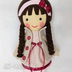 lalki zabawka malowana lala wiktoria z szalikiem