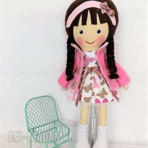 różowe lalki lalka malowana lala anna w motylkach