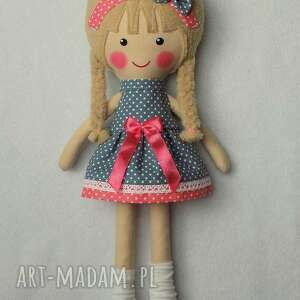 różowe lalki zabawka malowana lala julia