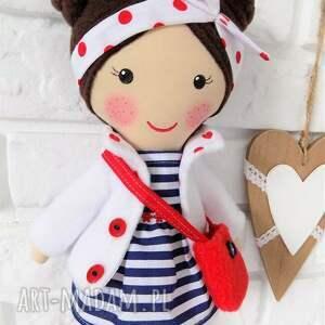 niebieskie lalki zabawka malowana lala helenka z torebką
