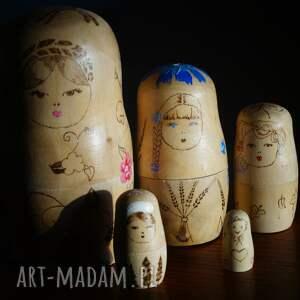 wyjątkowe lalki matrioszka 4 pór roku - ręcznie