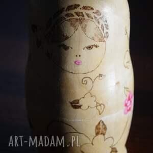 matrioszka lalki beżowe 4 pór roku - ręcznie