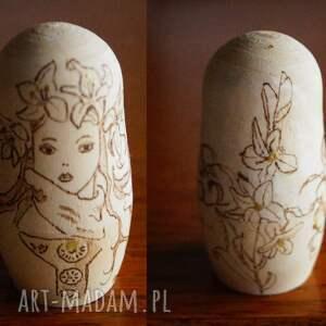 złote lalki bibelot matrioszka jak od muchy - ręcznie