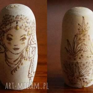 retro lalki brązowe matrioszka jak od muchy - ręcznie
