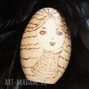 matrioszka lalki złote melancholijna - ręcznie