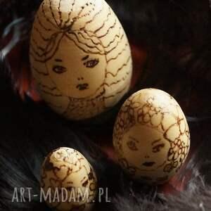 lalki drewno matrioszka melancholijna - ręcznie