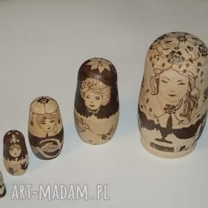 hand-made lalki wypalane matrioszka miłosna - ręcznie