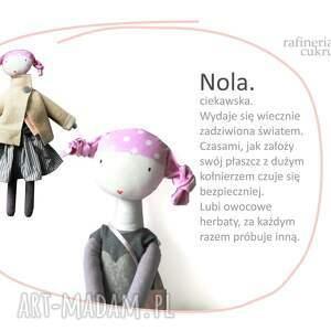 lalka lalki różowe nola. pastelove