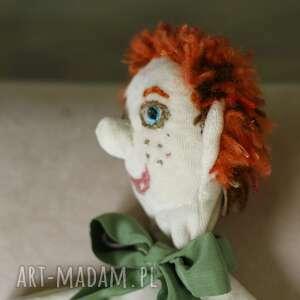 maskotka lalki pomarańczowe pacynka na rękę jaś