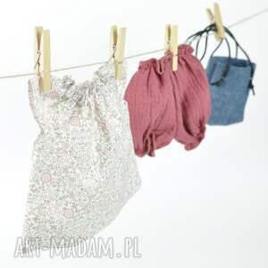 ręcznie wykonane lalki ubranka pastelowa tunika bloomersy