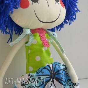 laleczka lalki niebieskie ręcznie szyta lalka anolinka