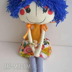 pomarańczowe lalki lalka ręcznie szyta anolinka