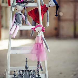 różowe lalki balet ruda baletowa