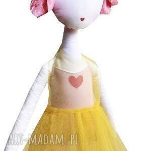 różowe lalki tutu słoneczna nola - lalka z sercem