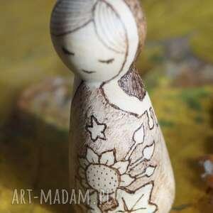 lalki kokeshi słonecznikowa panna - ręcznie