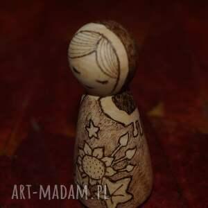 kokeshi lalki słonecznikowa panna - ręcznie