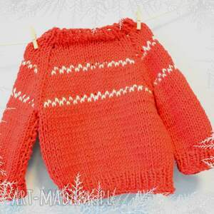 czerwone lalki sweter sweterek rudolfa. Ubranko