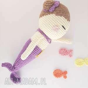 Papataj lalki: Syrenka przytulaśna szydełkowa - dziewczynka