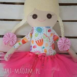 lalki szmaciana piękna laleczka - baletnica, wykonana