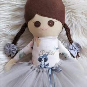 nietuzinkowe lalki szmacianka piękna szmaciana laleczka - baletnica, wykonana