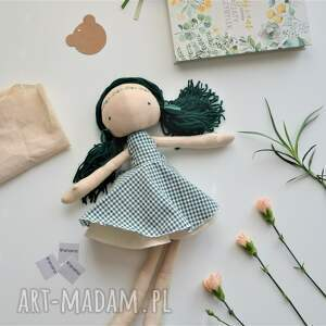 brązowe lalki szmacianka szyta laleczka szmacianka