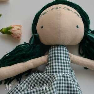 szmacianka lalki zielone szyta laleczka szmacianka