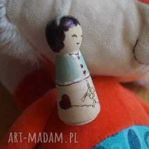 handmade lalki pluszak tulikowa - ręcznie wypalana