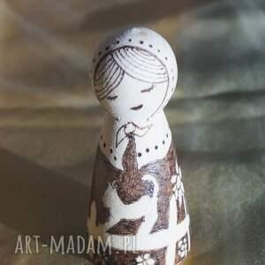 handmade lalki kokeshi wiejski spokój - ręcznie wypalana