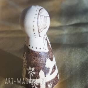 kokeshi lalki wiejski spokój - ręcznie wypalana