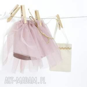 ubranka lalki różowe zestaw ubranek - pudrowy róż