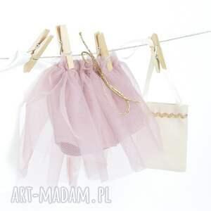 brązowe lalki dlalalek zestaw ubranek - pudrowy róż