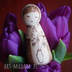 wypalana lalki zimowy kwiat - drewniana ręcznie